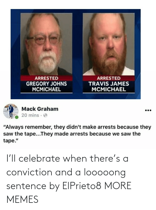 celebrate: I'll celebrate when there's a conviction and a looooong sentence by ElPrieto8 MORE MEMES