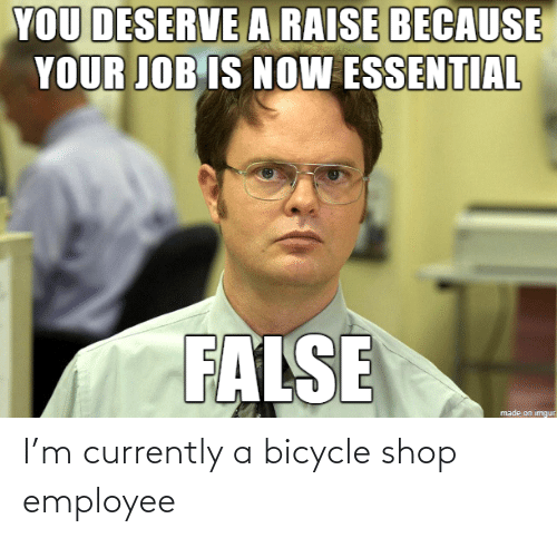 currently: I'm currently a bicycle shop employee