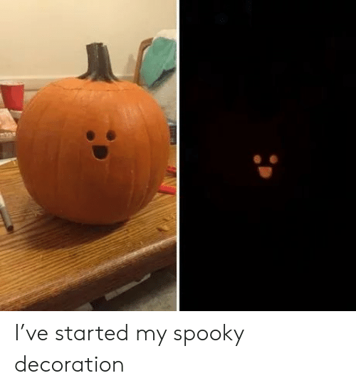 Spooky, Decoration, and Started: I've started my spooky decoration