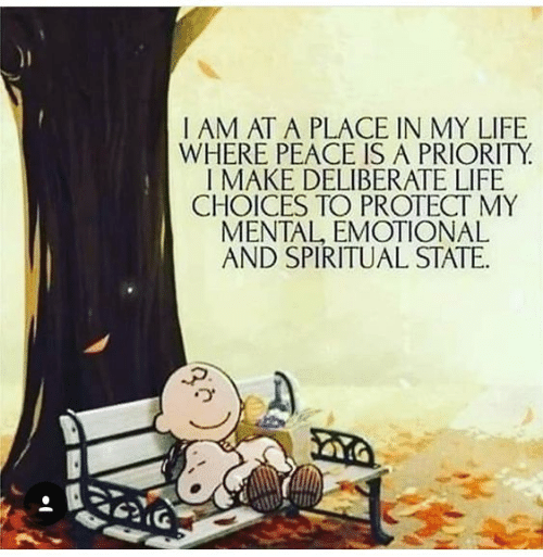 Dank, Life, and Peace: I AM AT A PLACE IN MY LIFE  WHERE PEACE IS A PRIORITY  I MAKE DELIBERATE LIFE  CHOICES TO PROTECT MY  MENTAL, EMOTIONAL  AND SPIRITUAL STATE