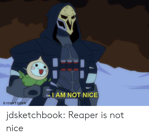 not nice: I AM NOT NICE  @JDAVIDSEN jdsketchbook:  Reaper is not nice