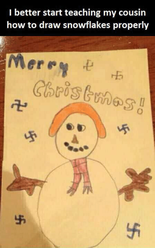 Christmas, How To, and Teaching: I better start teaching my cousin  how to draw snowflakes properly  Merey  Christmas  45  $5