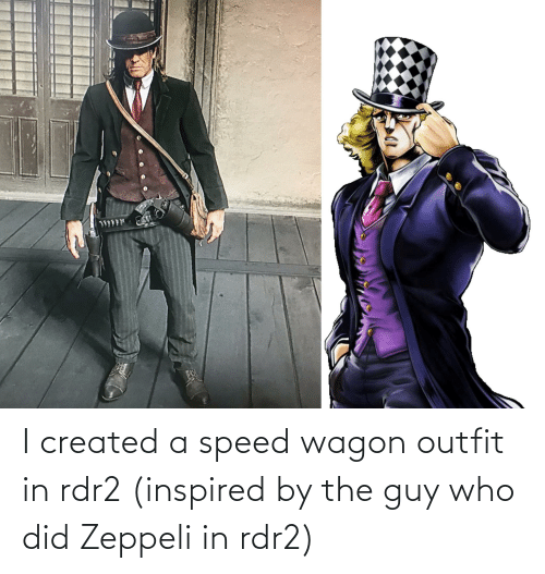 Rdr2: I created a speed wagon outfit in rdr2 (inspired by the guy who did Zeppeli in rdr2)