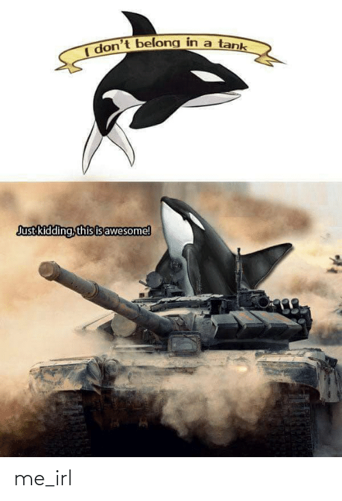 kidding: I don't belong in a tank  Just kidding, this isawesome! me_irl