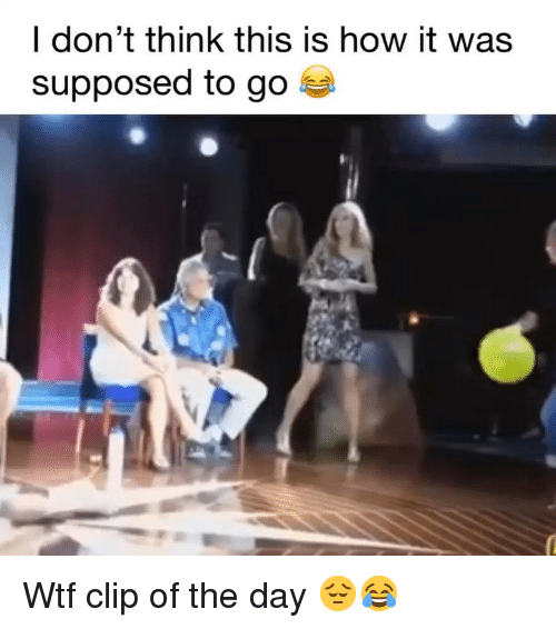 Funny, Wtf, and How: I don't think this is how it was  supposed to go Wtf clip of the day 😔😂