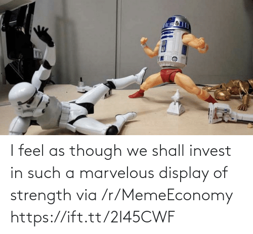 Marvelous: I feel as though we shall invest in such a marvelous display of strength via /r/MemeEconomy https://ift.tt/2I45CWF