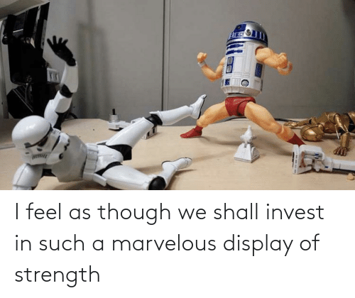 Marvelous: I feel as though we shall invest in such a marvelous display of strength