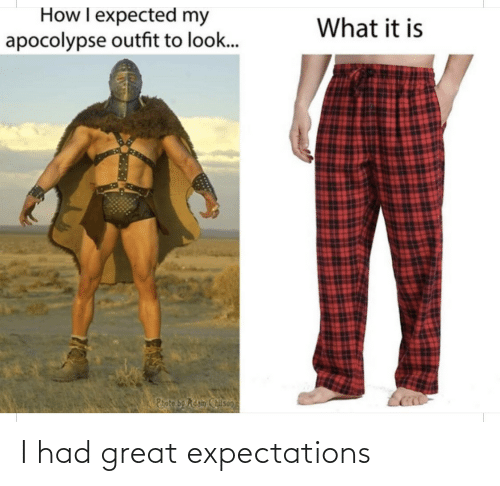 Expectations: I had great expectations