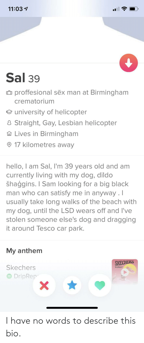 bio: I have no words to describe this bio.