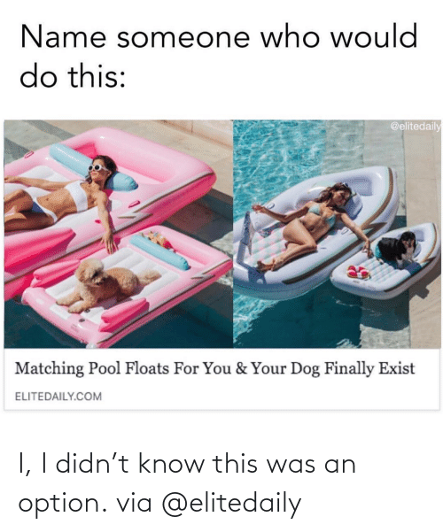 option: I, I didn't know this was an option.via @elitedaily