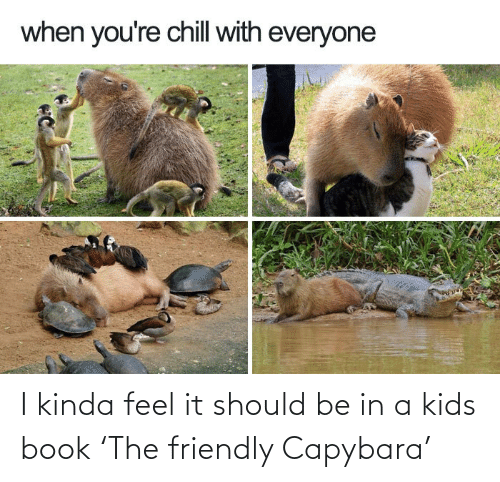 Friendly: I kinda feel it should be in a kids book 'The friendly Capybara'