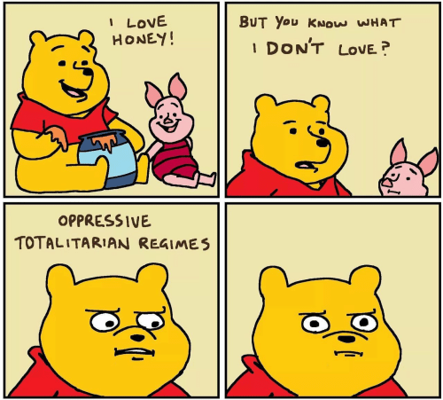 Love, Honey, and You: I LOVE  HONEY!  BUT You KNOw WHAT  DON'T  LOVE?  OPPRESSIVE  TOTALITARIAN REGIMES