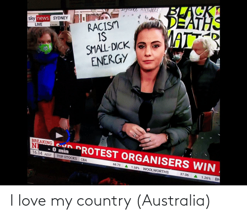 Love: I love my country (Australia)