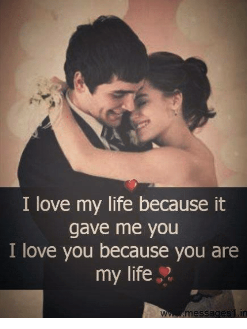 Memes, I Love You, and 🤖: I love my life because it  gave me you  I love you because you are  my life  messages in