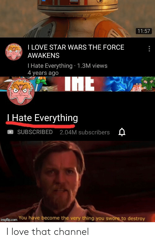 I Love: I love that channel