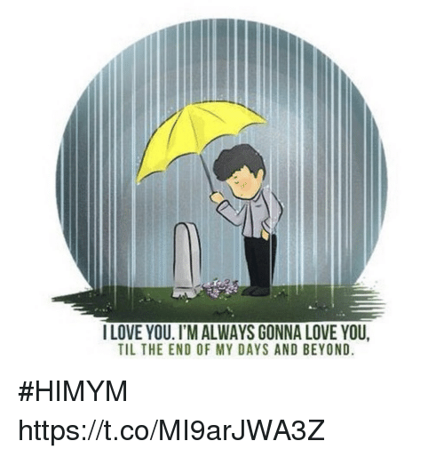 Love, Memes, and I Love You: I LOVE YOU. I'M ALWAYS GONNA LOVE YOU,  TIL THE END OF MY DAYS AND BEYOND #HIMYM https://t.co/MI9arJWA3Z