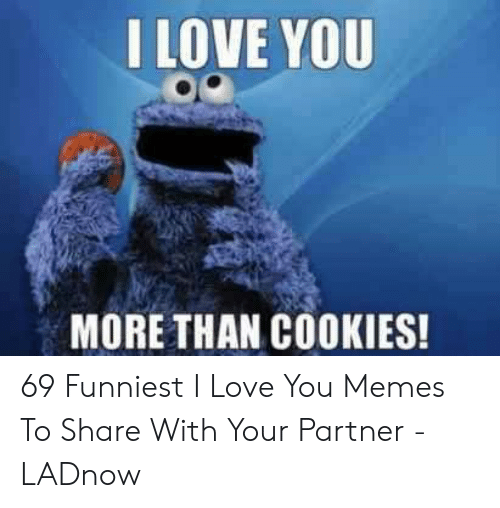 Cookies, Love, and Memes: I LOVE YOU  MORE THAN COOKIES! 69 Funniest I Love You Memes To Share With Your Partner - LADnow
