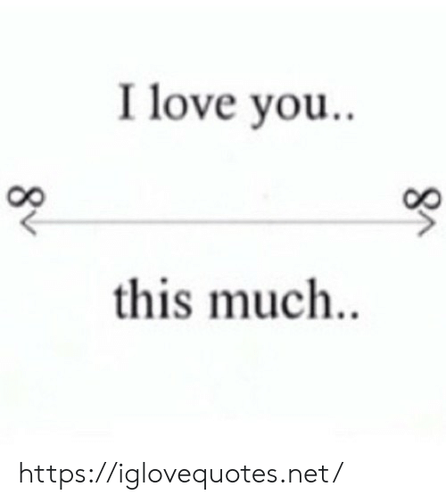 Love, I Love You, and Net: I love you..  this much. https://iglovequotes.net/