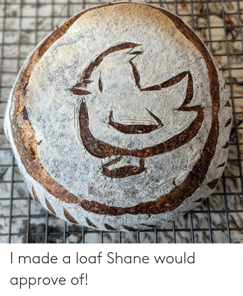 Shane: I made a loaf Shane would approve of!