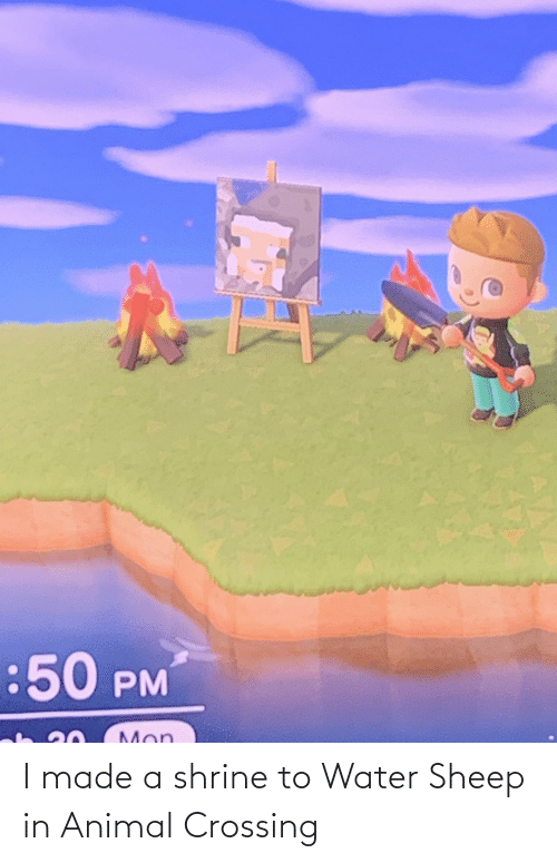 Shrine: I made a shrine to Water Sheep in Animal Crossing