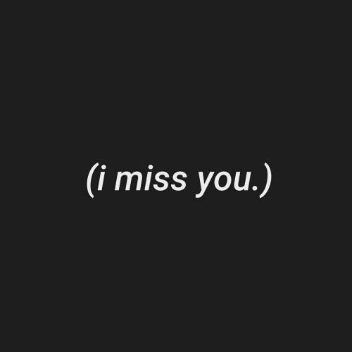 You, Miss, and I Miss You: (i miss you.)
