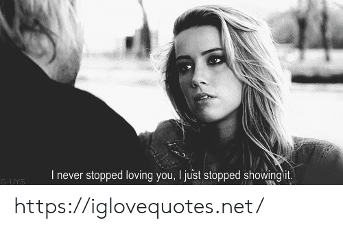 Never, Net, and You: I never stopped loving you, I just stopped showing it.  G-UYS https://iglovequotes.net/