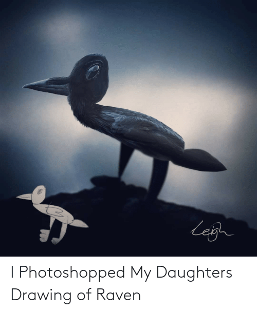 Daughters: I Photoshopped My Daughters Drawing of Raven