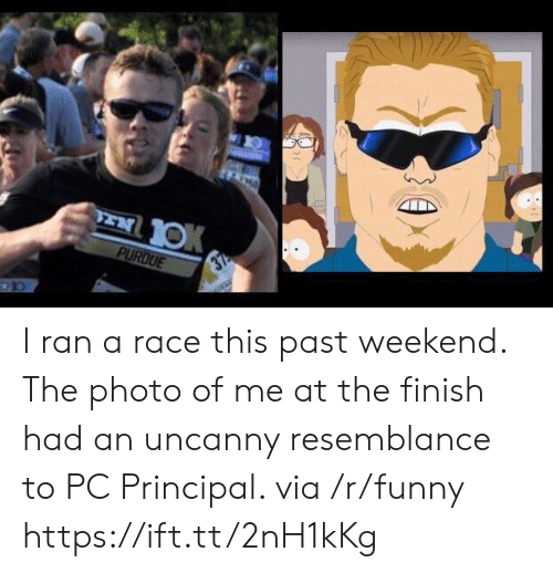 Pc Principal: I ran a race this past weekend. The photo of me at the finish had an uncanny resemblance to PC Principal. via /r/funny https://ift.tt/2nH1kKg
