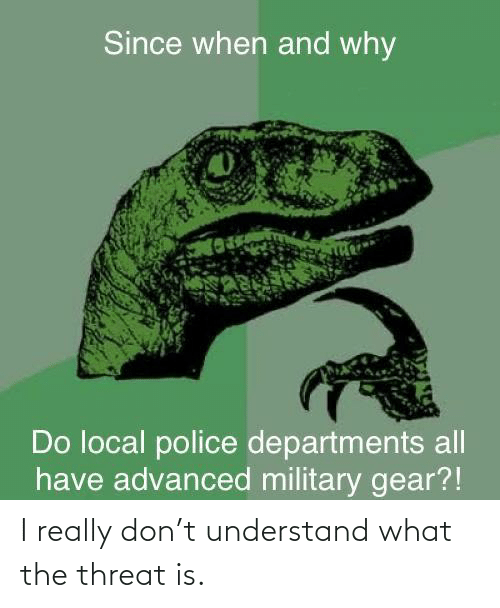 what the: I really don't understand what the threat is.