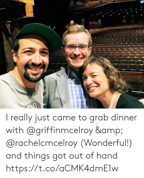 Memes, 🤖, and Got: I really just came to grab dinner with @griffinmcelroy & @rachelcmcelroy (Wonderful!) and things got out of hand https://t.co/aCMK4dmE1w