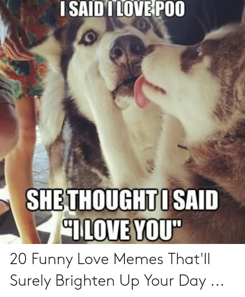 "Funny, Love, and Memes: I SAID ILOVE POO  SHETHOUGHTISAID  ILOVE YOU"" 20 Funny Love Memes That'll Surely Brighten Up Your Day ..."