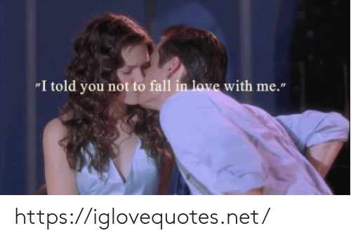 """Fall, Love, and Net: """"I told you not to fall in love with me."""" https://iglovequotes.net/"""