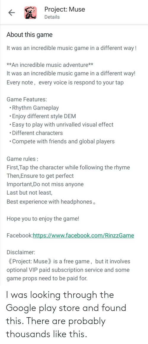 Google Play: I was looking through the Google play store and found this. There are probably thousands like this.