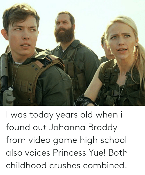 video game: I was today years old when i found out Johanna Braddy from video game high school also voices Princess Yue! Both childhood crushes combined.