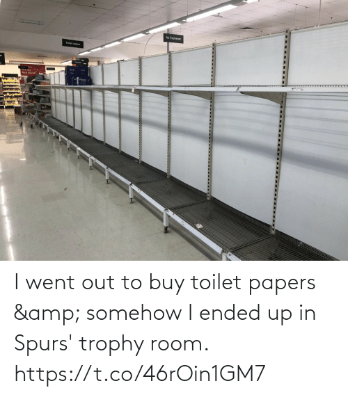 Spurs: I went out to buy toilet papers & somehow I ended up in Spurs' trophy room. https://t.co/46rOin1GM7