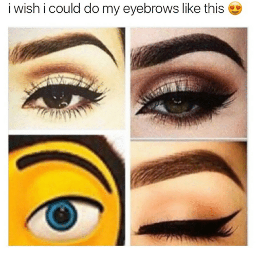 This, Eyebrows, and Like: i wish i could do my eyebrows like this