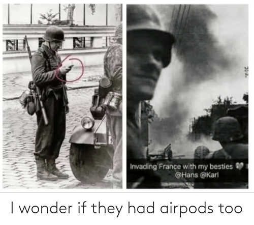 Wonder If: I wonder if they had airpods too