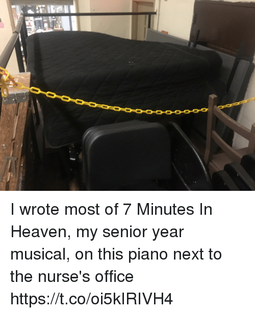 seniority: I wrote most of 7 Minutes In Heaven, my senior year musical, on this piano next to the nurse's office https://t.co/oi5kIRIVH4