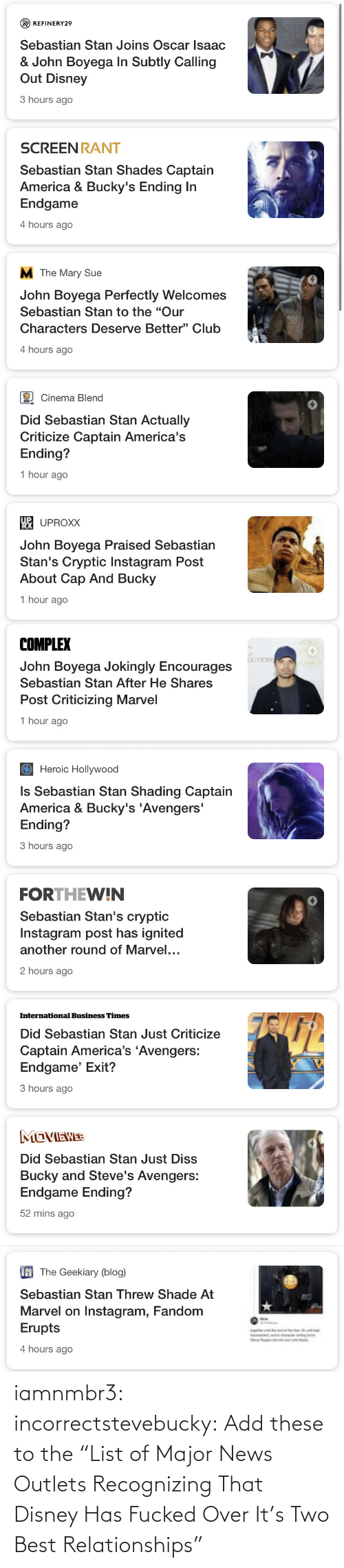 "Fucked: iamnmbr3:  incorrectstevebucky: Add these to the ""List of Major News Outlets Recognizing That Disney Has Fucked Over It's Two Best Relationships"""