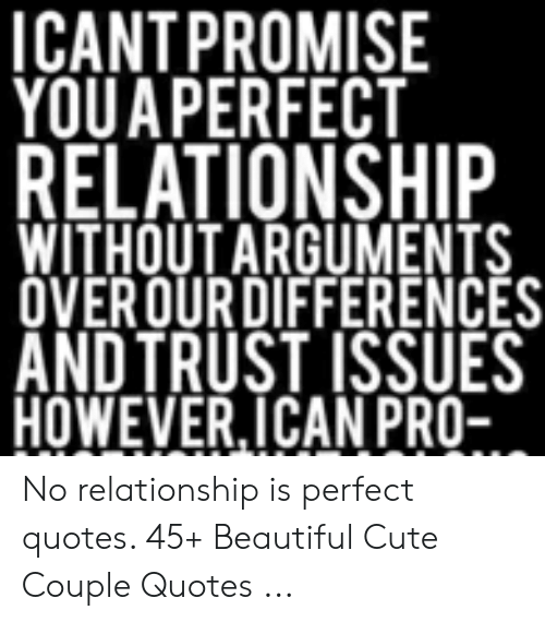 Icantpromise Youa Perfect Relationship Without Arguments Overourdifferences And Trust Issues Howeverican Pro No Relationship Is Perfect Quotes 45 Beautiful Cute Couple Quotes Beautiful Meme On Awwmemes Com