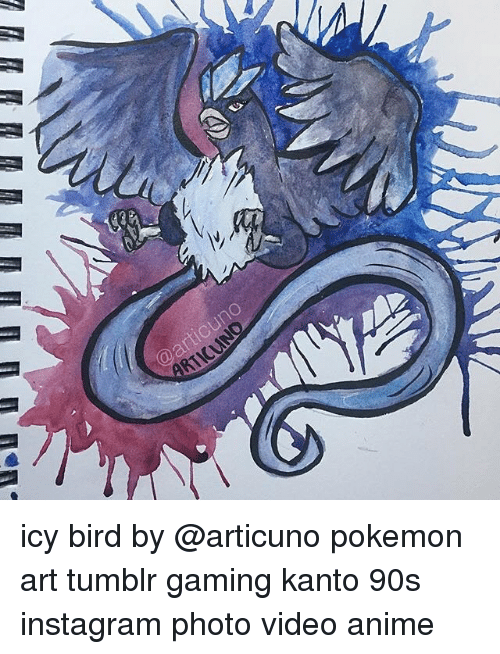 Icy Bird by Pokemon Art Tumblr Gaming Kanto 90s Instagram