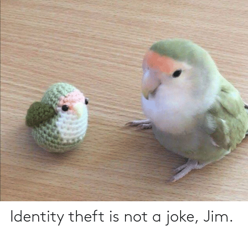 Not A: Identity theft is not a joke, Jim.