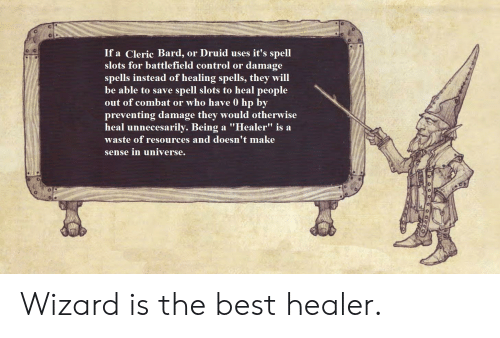 If a Cleric Bard or Druid Uses It's Spell Slots for Battlefield