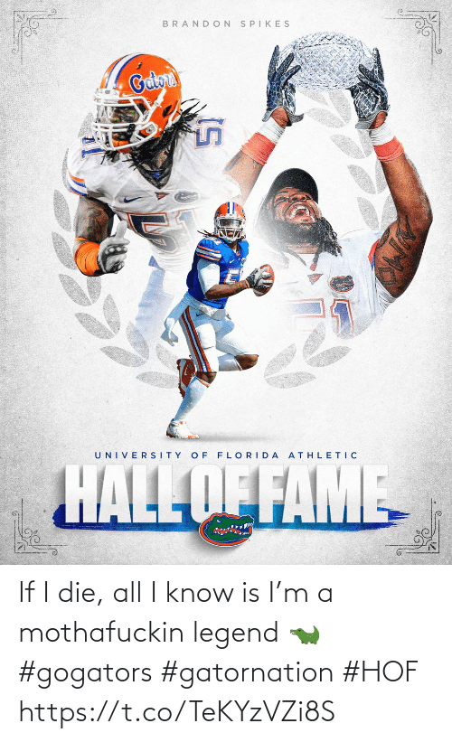 legend: If I die, all I know is I'm a mothafuckin legend 🐊 #gogators #gatornation #HOF https://t.co/TeKYzVZi8S