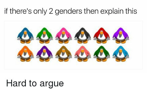 Only 2 Genders: if there's only 2 genders then explain this Hard to argue