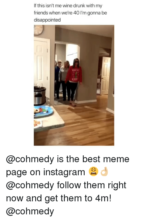 Cohmedy: If this isn't me wine drunk with my  friends when we're 40 I'm gonna be  disappointed @cohmedy is the best meme page on instagram 😩👌🏼 @cohmedy follow them right now and get them to 4m! @cohmedy
