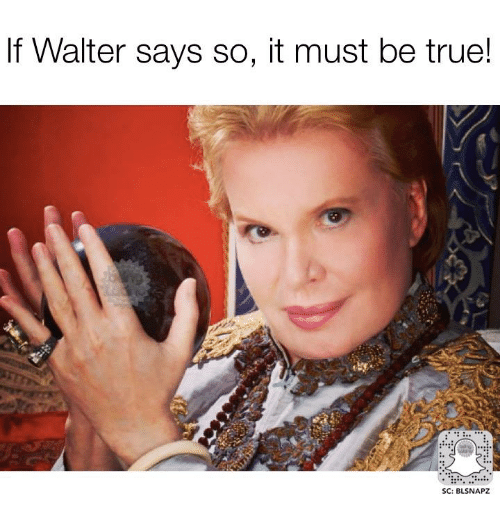 Memes, True, and 🤖: If Walter says so, it must be true!  SC: BLSNAPZ