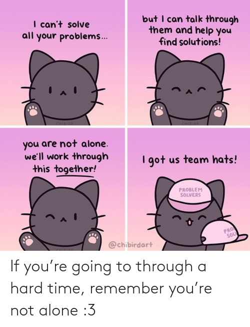 remember: If you're going to through a hard time, remember you're not alone :3