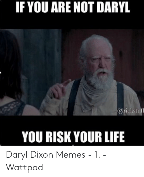 Daryl Dixon Memes: IF YOU ARE NOT DARYL  @rickstuff  YOU RISK YOUR LIFE Daryl Dixon Memes - 1. - Wattpad