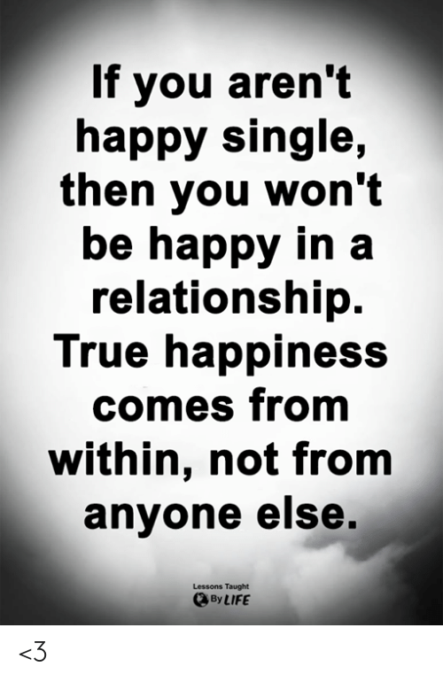 single vs relationship who is more happy